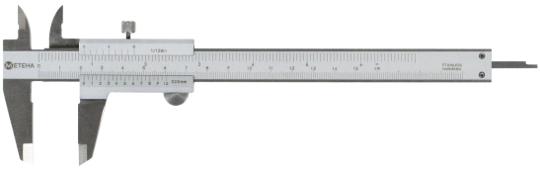 METEHA Messschieber 150 mm,  Monoblockausführung DIN-862