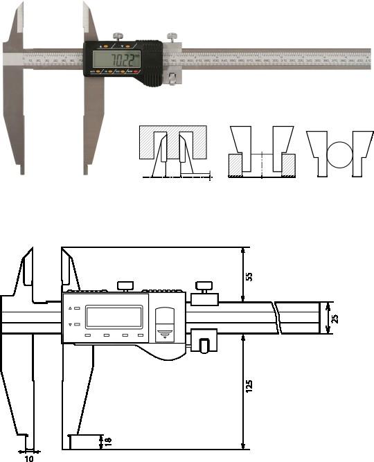 Digitaler Werkstattmessschieber   500 mm, Form B