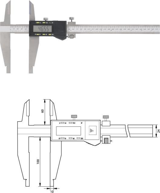 Digitaler Werkstatt-Messschieber  600 mm, Form B, spritzwassergeschützt nach IP54
