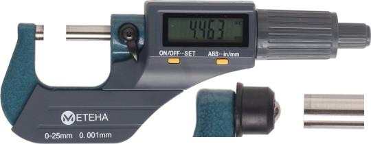 Digitale Bügelmessschraube  0-25 mm, Lithium