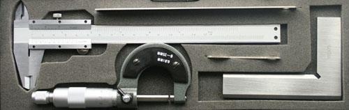 Angebio satz: Schieblehre, Mikrometer, Winkel
