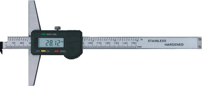 Digitaler Tiefenmesschieber mit Winkelansatz 150 mm