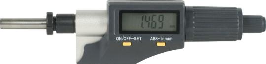 Digitale Einbaumessschraube  0-25 mm  mit Spannmutter Ballig
