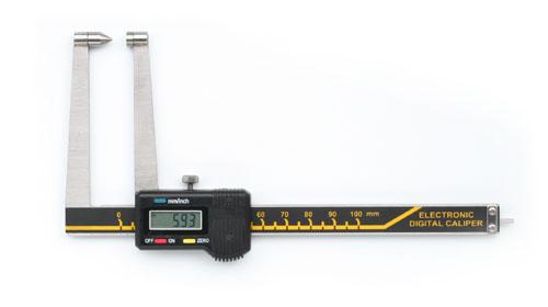 Digitale Bremsscheiben-Messschieber mit spitzer Messfläche 100 mm