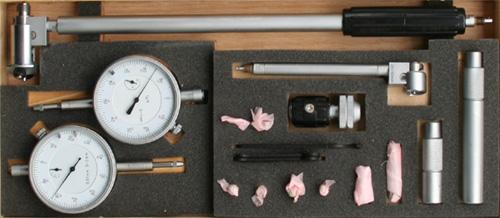 2-Punkt-Innenmessgerät   20-200 mm mit 2 Messuhren - 1 µ Auflösung