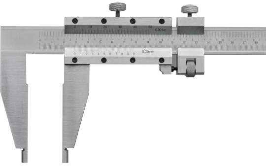 Messschieber  500 mm, Bauform nach DIN 862 E, Noniuswert 0,02