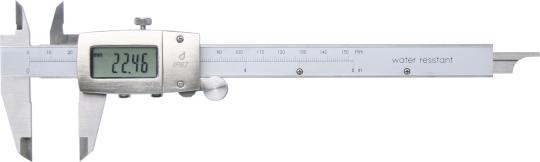 Digitaler Messschieber 150 mm, strahlwassergeschützt nach IP67