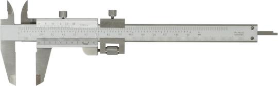 Messschieber 150 mm,  Monoblockausführung mit Feinverstellung DIN-862