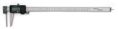 Digital Messschreiber mit stiftförmigem Amboss zur Wanddickenmessung  300 mm