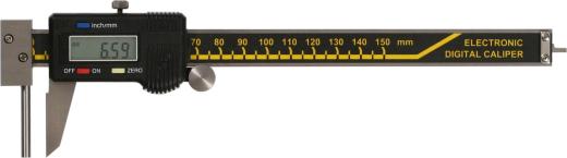 Digital Messschieber  mit stiftförmigem Amboss zur Wanddickenmessung  150 mm