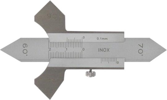 Schweissnaht-Messschieber / Schweissnahtlehre 0-20 mm aus INOX Stahl