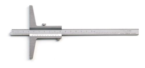 Tiefenmessschieber 150 mm, Bauform nach DIN 862 C, Noniuswert 0,02