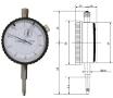Messuhr 10 mm, Bauform DIN 878 A