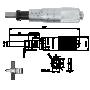 Einbaumikrometer 0-25 mm mit Spannmutter, plan